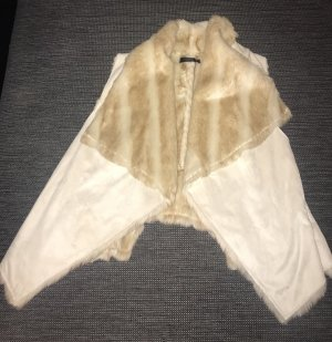 Fur vest cream-beige