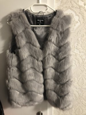 Colloseum Giacca di pelliccia grigio chiaro
