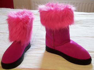 Kunstfellbooties von Everestair pink
