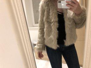 H&M Giacca di pelliccia beige Pelliccia
