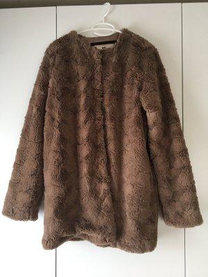 edc by Esprit Giacca di pelliccia marrone-grigio