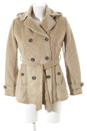 Fake Fur Jacket beige casual look