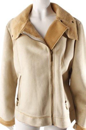 Faux fur jacket beige