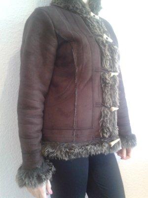 Authentics Fake Fur Jacket taupe-grey brown fake fur