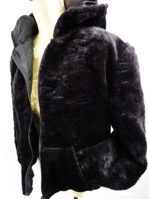 Kunstfelljacke Felljacke Damenmantel schwarz Winterjacke