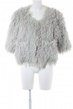Fake Fur Jacket sage green fluffy
