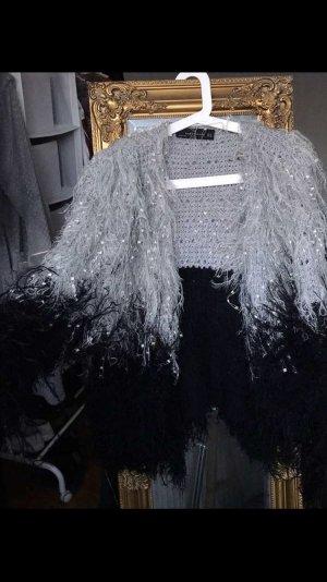 Kunstfelljacke mit Fransen Zara ungetragen