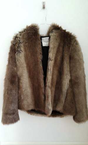 Kunstfelljacke Zara braun/beige