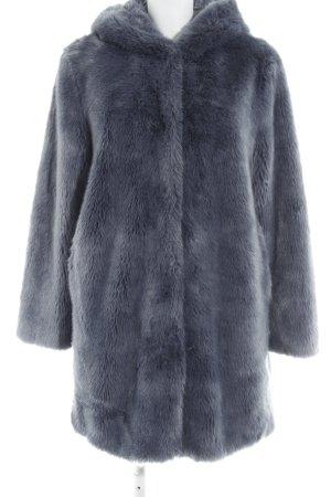 Cappotto in eco pelliccia grigio ardesia stile casual