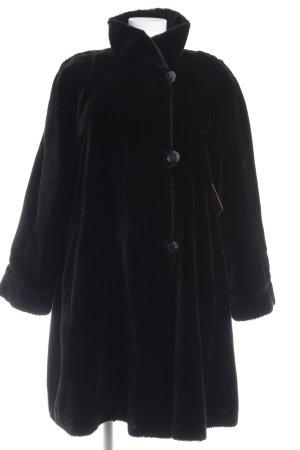 Cappotto in eco pelliccia nero soffice