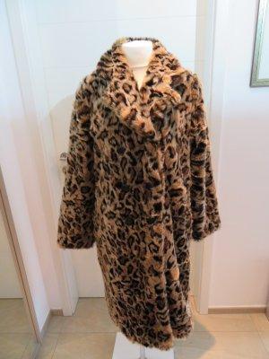 Zara Fake Fur Coat multicolored fake fur