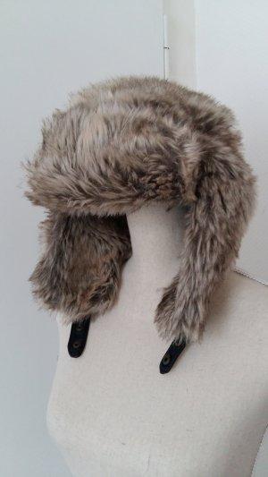 H&M Chapeau en fourrure multicolore