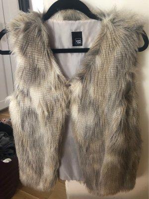 Pimkie Fake Fur Vest beige-light grey
