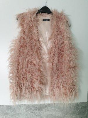 primadonna Fake Fur Vest dusky pink-pink