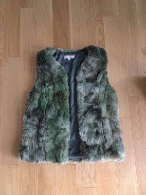 Emily van den Bergh Fake Fur Vest multicolored fake fur