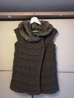 Zara Vest van imitatiebont veelkleurig