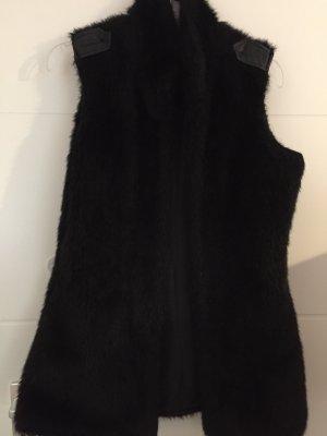 Defacto Fur vest black