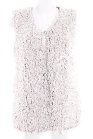 Vest van imitatiebont licht beige-beige pluizig