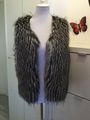 Fake Fur Vest multicolored fake fur