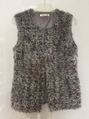 Betty Barclay Fur vest grey