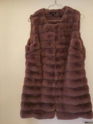 More & More Fake Fur Vest dusky pink polyester