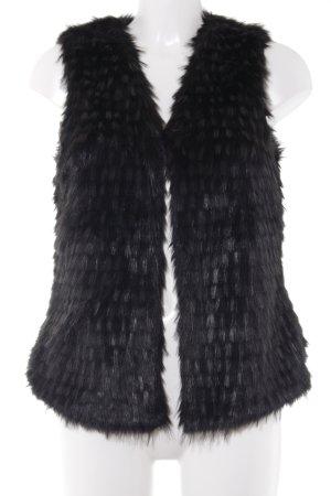 Vest van imitatiebont zwart extravagante stijl