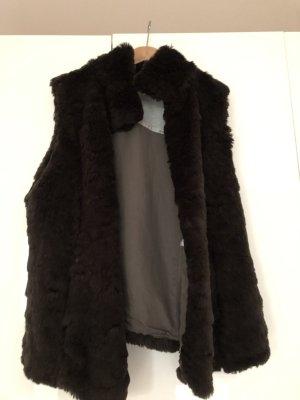 Marc Cain Fake Fur Vest black brown