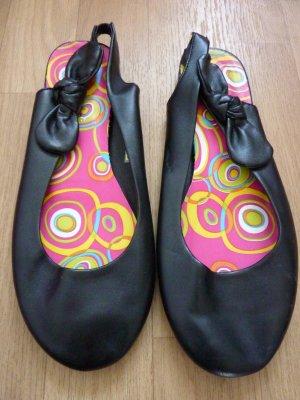 Slingback Ballerinas black imitation leather