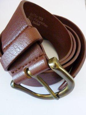 Faux Leather Belt brown-cognac-coloured