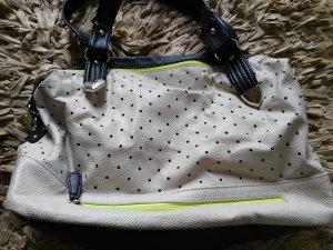 Kunstleder Handtasche beige, neon