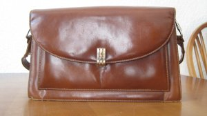 Kunstleder Handtasche, klein, braun
