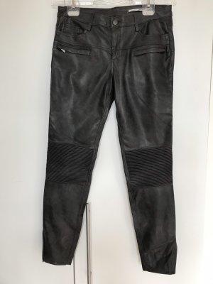 Zara Pantalón de pinza alto gris oscuro-gris antracita