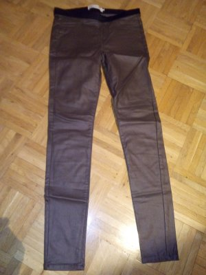 Jeggings grey brown-black imitation leather