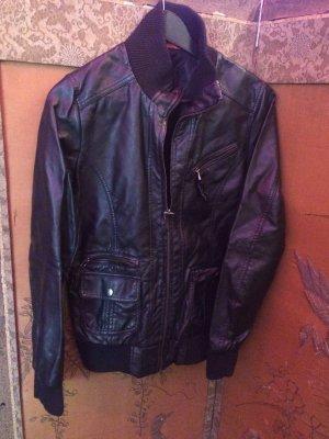 Faux Leather Jacket black