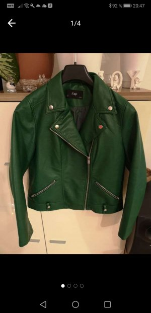 Faux Leather Jacket forest green