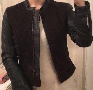 H&M Divided Chaqueta de cuero de imitación negro