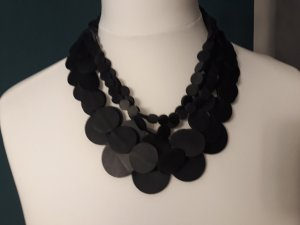 H&M Statement Necklace black imitation leather