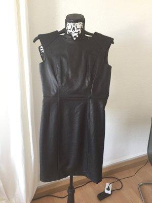 Kunstleder Kleid schwarz