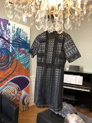 Kunstleder-Kleid schwarz von ZARA Größe L