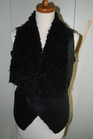 Kunstleder / Kunstfell Weste in schwarz von Orsay Größe 36