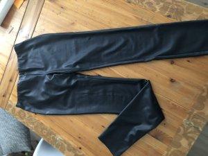 Missoni Pantalón de cuero negro