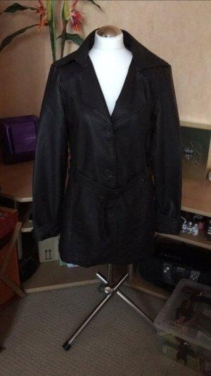 Kunstleder Mantel große 38