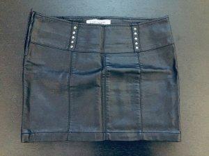 Clockhouse Faux Leather Skirt black