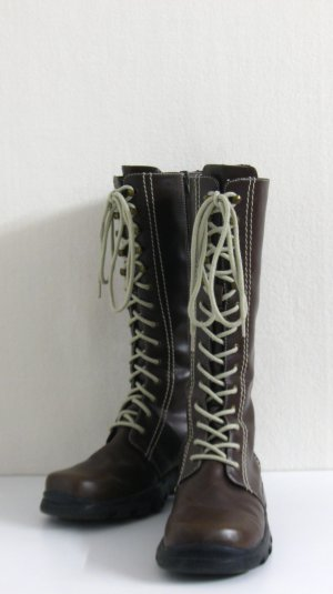 Lace-up Boots brown-oatmeal imitation leather