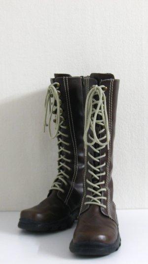 Botas con cordones marrón-beige claro Imitación de cuero