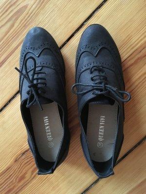 Kunstleder schwarze Schuhe neu