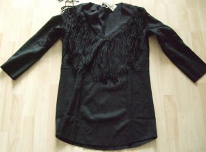 Leather Shirt black polyester