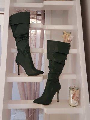 Kunstleder Stiefel High Heels