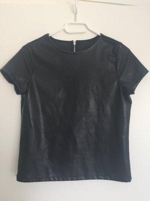 Kunstleder T-Shirt