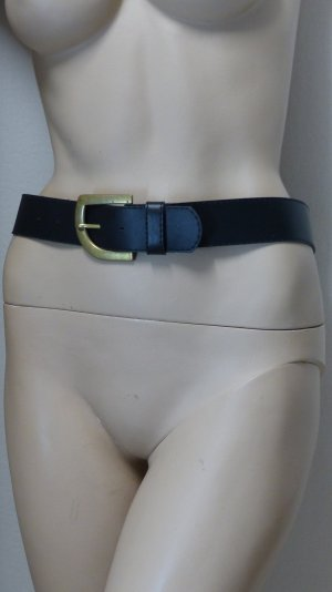 Faux Leather Belt black-gold-colored imitation leather